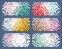 6 αφηρημένα στοιχεία γεωμετρίας Υπνωτικά υπόβαθρα Στοκ Φωτογραφία
