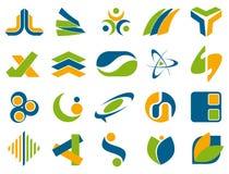 Αφηρημένα στοιχεία σχεδίου λογότυπων επιχείρησης Στοκ φωτογραφία με δικαίωμα ελεύθερης χρήσης