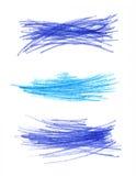 Αφηρημένα στοιχεία σχεδίου χρώματος συρμένα χέρι Στοκ Εικόνες
