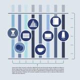 Αφηρημένα στοιχεία του infographics με το γραφείο Στοκ Εικόνες