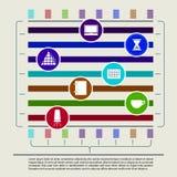 Αφηρημένα στοιχεία του infographics με το γραφείο Στοκ Φωτογραφία