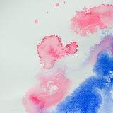 Αφηρημένα σχέδια χρωμάτων υποβάθρου watercolor Στοκ φωτογραφία με δικαίωμα ελεύθερης χρήσης