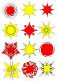 αφηρημένα σύμβολα αστεριών συλλογής διανυσματική απεικόνιση