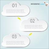 Αφηρημένα σύννεφα Infographic επίσης corel σύρετε το διάνυσμα απεικόνισης Στοκ εικόνα με δικαίωμα ελεύθερης χρήσης