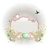 αφηρημένα σύνορα floral ελεύθερη απεικόνιση δικαιώματος
