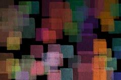 Αφηρημένα τετράγωνα κρητιδογραφιών Στοκ φωτογραφία με δικαίωμα ελεύθερης χρήσης