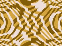 αφηρημένα τετράγωνα προτύπων αποτελεσμάτων ελαφριά κίτρινα τρισδιάστατη σύσταση Στοκ Εικόνες