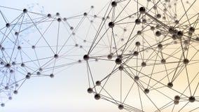 Αφηρημένα τρισδιάστατα δίκτυα απεικόνιση αποθεμάτων