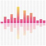 αφηρημένα υγιή κύματα εξισωτών Ακουστική μουσική σφυγμού Στοκ φωτογραφία με δικαίωμα ελεύθερης χρήσης