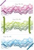 Αφηρημένα υπόβαθρα με τα κύματα και τις κορδέλλες Στοκ Εικόνα