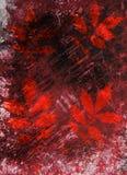 Αφηρημένα υπόβαθρο και φύλλα watercolor Μικτά μέσα Διανυσματική απεικόνιση