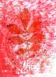 Αφηρημένα υπόβαθρο και φύλλα watercolor Μικτά μέσα Απεικόνιση αποθεμάτων