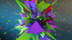 Αφηρημένα υπόβαθρο και χρώματα Στοκ Εικόνα