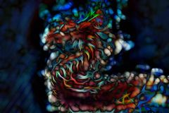 Αφηρημένα υπόβαθρο και fractal, υπόβαθρο χρώματος στοκ εικόνες