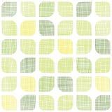 Αφηρημένα υφαντικά πράσινα στρογγυλευμένα τετράγωνα άνευ ραφής Στοκ εικόνες με δικαίωμα ελεύθερης χρήσης