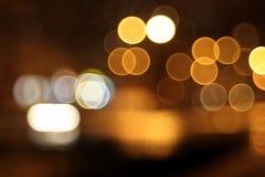 Αφηρημένα φω'τα, δάκρυα στα μάτια, πόλη νύχτας Στοκ εικόνα με δικαίωμα ελεύθερης χρήσης