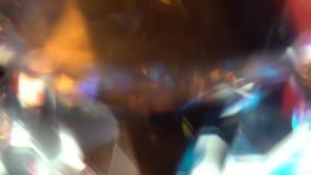 Αφηρημένα φω'τα άσπροι μπλε και πορτοκαλής σημειώσεις μουσικής ανασκόπησης bokeh θεματικές φιλμ μικρού μήκους