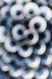 Αφηρημένα φω'τα κύκλων, θολωμένο μπλε σχέδιο Στοκ εικόνες με δικαίωμα ελεύθερης χρήσης