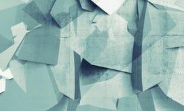Αφηρημένα χαοτικά polygonal τεμάχια στο συμπαγή τοίχο απεικόνιση αποθεμάτων