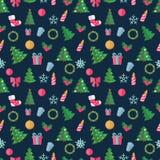 Αφηρημένα Χριστούγεννα και νέο σχέδιο Seamles έτους απεικόνιση αποθεμάτων