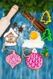 Αφηρημένα Χριστούγεννα και νέο υπόβαθρο έτους με το παλαιό εκλεκτής ποιότητας ξύλο Στοκ Εικόνα