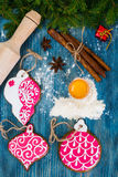 Αφηρημένα Χριστούγεννα και νέο υπόβαθρο έτους με το παλαιό εκλεκτής ποιότητας ξύλο Στοκ φωτογραφία με δικαίωμα ελεύθερης χρήσης