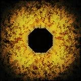 Αφηρημένα χρυσά σημεία στο μαύρο διάνυσμα υποβάθρου Στοκ φωτογραφία με δικαίωμα ελεύθερης χρήσης