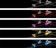 αφηρημένα χρωματισμένα εμβ&lam Στοκ Εικόνες