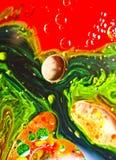 Αφηρημένα χρώματα και υγρά Στοκ φωτογραφία με δικαίωμα ελεύθερης χρήσης