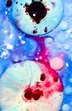Αφηρημένα χρώματα και υγρά Στοκ Εικόνα