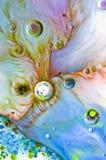 Αφηρημένα χρώματα και υγρό Στοκ εικόνες με δικαίωμα ελεύθερης χρήσης