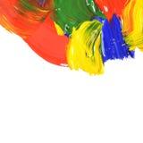 αφηρημένα χρώματα κτυπημάτων χρώματος Στοκ Φωτογραφία
