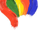 αφηρημένα χρώματα κτυπημάτων χρώματος Στοκ Εικόνες