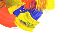 αφηρημένα χρώματα κτυπημάτων χρώματος Στοκ Φωτογραφίες