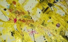 Αφηρημένα χρώματα σπινθηρίσματος ζωγραφικής, κτυπήματα βουρτσών, οργανικό υπνωτικό υπόβαθρο Στοκ Φωτογραφίες