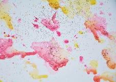 Αφηρημένα χρώματα watercolor κρητιδογραφιών μαλακά, υπόβαθρο Στοκ Φωτογραφία