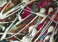 Αφηρημένα χρώματα watercolor χρωμάτων, πορφυρό χρώμα watercolor κτυπημάτων βουρτσών Αφηρημένο υπόβαθρο χρωμάτων Watercolor Στοκ Εικόνα