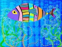 αφηρημένα ψάρια ελεύθερη απεικόνιση δικαιώματος