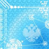 αφηρημένα ψηφιακά σύμβολα ανασκόπησης διανυσματική απεικόνιση