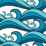 αφηρημένα ψηφιακά fractals κύματα θάλασσας προτύπων απεικόνισης ελεύθερη απεικόνιση δικαιώματος