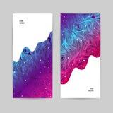 Αφηρημένα όμορφα κύματα επιχειρησιακών εμβλημάτων διανυσματική απεικόνιση