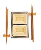 αφηρημένα chopsticks κύπελλων Στοκ Εικόνες