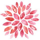 Αφηρημένα floral έργα ζωγραφικής watercolor στοκ εικόνα