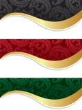 αφηρημένα floral κύματα διακοσμ διανυσματική απεικόνιση