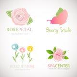 Αφηρημένα floral σχέδια για το λογότυπο ελεύθερη απεικόνιση δικαιώματος