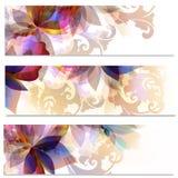 Αφηρημένα floral φυλλάδια συλλογής καθορισμένα Στοκ φωτογραφία με δικαίωμα ελεύθερης χρήσης