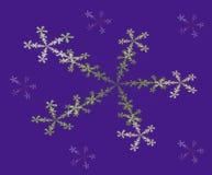 Αφηρημένα fractal συμμετρικά ζωηρόχρωμα snowflakes Στοκ Εικόνα