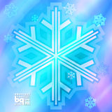 Αφηρημένα snowflakes υποβάθρου για το σχέδιο Στοκ εικόνες με δικαίωμα ελεύθερης χρήσης