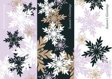 αφηρημένα snowflakes Στοκ Εικόνες