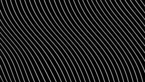 Αφηρημένες άσπρες γραμμές Morphing στη μαύρη επιφάνεια στον άνευ ραφής βρόχο